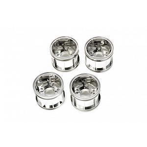 47411 WR-02CB T-Parts (Wheel Rims) (Chrome Plated) [TAMIYA]