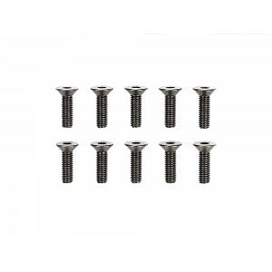 51629 3x10mm Steel Countersunk Hex Head Screws (10pcs.) [TAMIYA]
