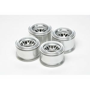 54201 F104 Metal Plated Mesh Wheel Set for Rubber Tires [TAMIYA]