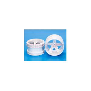 54676 GF-01 White 5-Spoke Wheels (2Pcs.)