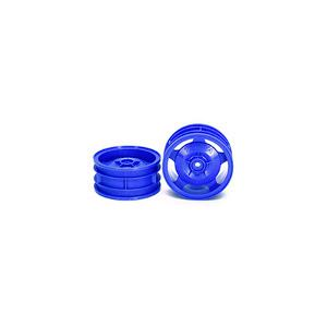 54681 4WD Buggy Front Star-Dish Wheels (Blue, 2pcs.)