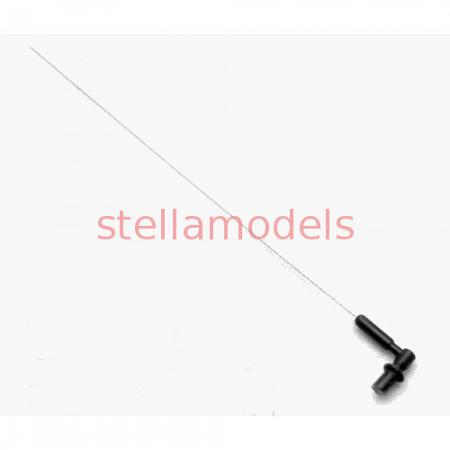 Roof Antenna (Black Base, 1Pc.) for TAMIYA 1/14 Scania Tractor Trucks (T-2007) [CChand] 1