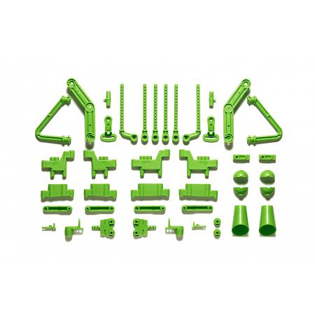 47407 WR-02CB L/N-Parts (Body Mounts/Suspension Arms) (Yellow Green) [TAMIYA] 1