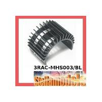 3RAC-MHS003/BL Aluminum Motor Heatsink For 540-Type Motor (Fan-Shaped) - Black