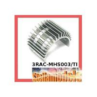 3RAC-MHS003/TI Aluminum Motor Heatsink for 540 Motor (Fan-Shaped) - TItanium Colour