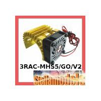 3RAC-MHS5/GO/V2 Ext Motor Heat Sink w/Fan V2 (High Finger) for 540 Motor (Gold)