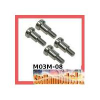 M03M-08 64 Titanium King Pin Set for M-03M