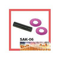 SAK-06 Spur Gear Shaft Set for Sakura Zero