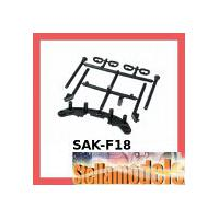 SAK-F18 Body Post & Bumper For 3racing Sakura FF