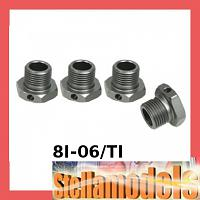8I-06/TI Aluminium Wheel Adaptor 17mm for 8ight