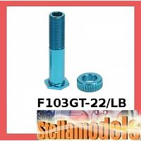 F103GT-22/LB Alum Friction Damper Post For Tamiya F103GT