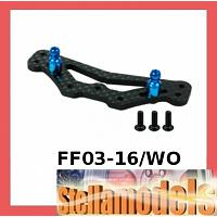 FF03-16/WO Graphite Rear Shock Tower For FF-03