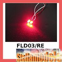 3RAC-FLD03/RE 3MM Flash LED LIGHT SET - Red COLOR FOR LED SYS