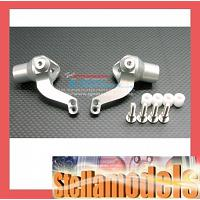 JN021 Alloy Front/Rear Knuckle Arm Set - SILVER - 1pr