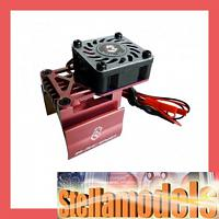 3RAC-MHS7/RE/V2 Ext Motor Heat Sink w/Fan V2 (High Finger) for 540 Motor Red