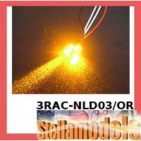 3RAC-NLD03/OR 3mm Normal LED Light - Orange
