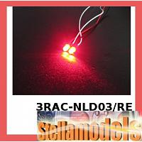 3RAC-NLD03/RE 3mm Normal LED Light - Red