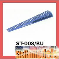 ST-008/BU Chassis Ride Height Gauge 0.5 - 15 (Step) - Blue