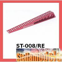 ST-008/RE Chassis Ride Height Gauge 0.5 - 15 (Step) - Red