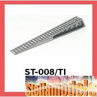 ST-008/TI Chassis Ride Height Gauge 0.5 - 15 (Step) - Titanium Colour