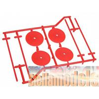 WH-06/OR 1/10 Tyre Set Holder (4 pcs) - Orange