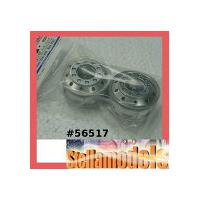 56517 Metal-Plated Front Wheels (22mm Width / Matte Finish)