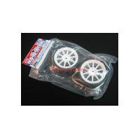 84357 White 10-Spoke Wheels w/Reinforced Tires Type C (24mm, 2pcs.)