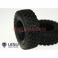 #Tractor Truck All Terrain Tires with inserts (30mm, 1Pr.) (S-1214) [LESU] 2